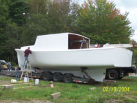 38' Calvin Beal Kit Boat in progress